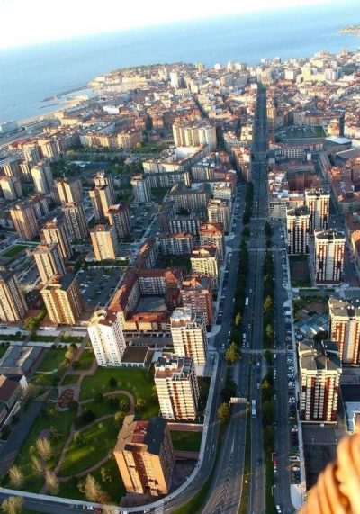 Gijón desde el cielo